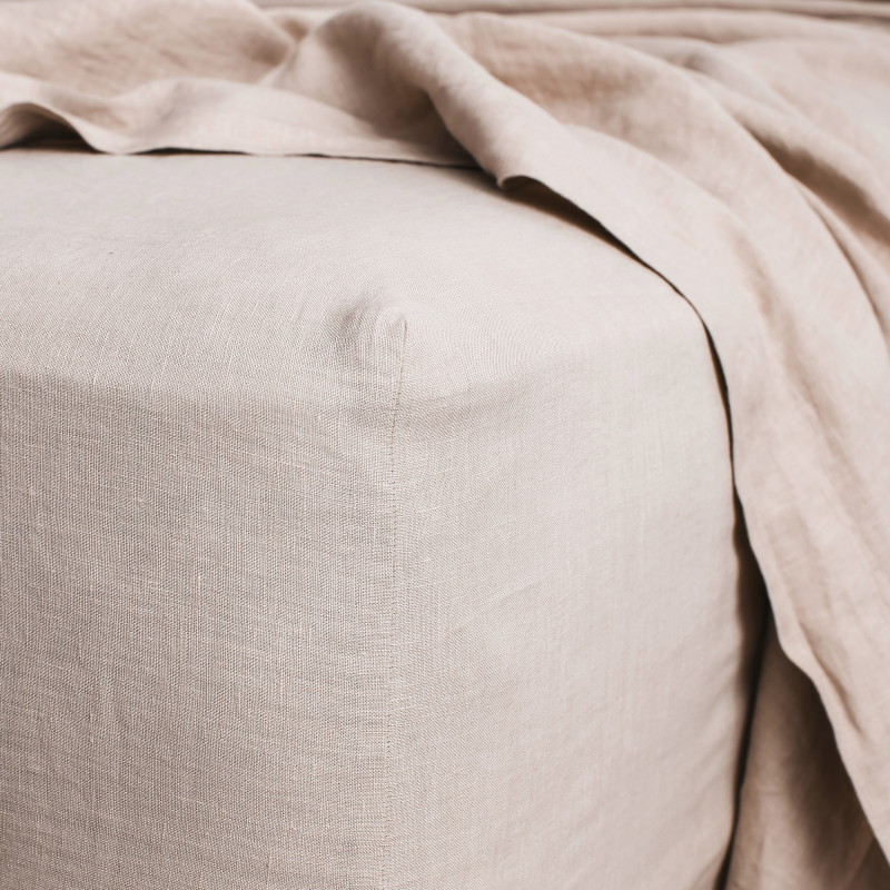 Blush fitted sheet detail from Monsoon Living Newcastle