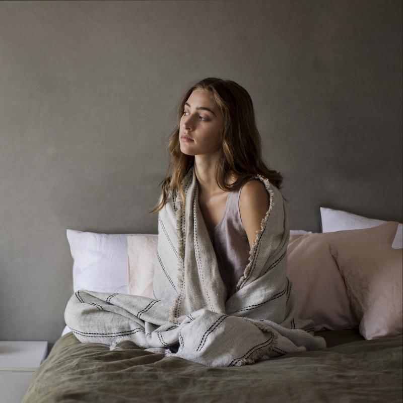 Ana linen wrap blanket from Monsoon Living