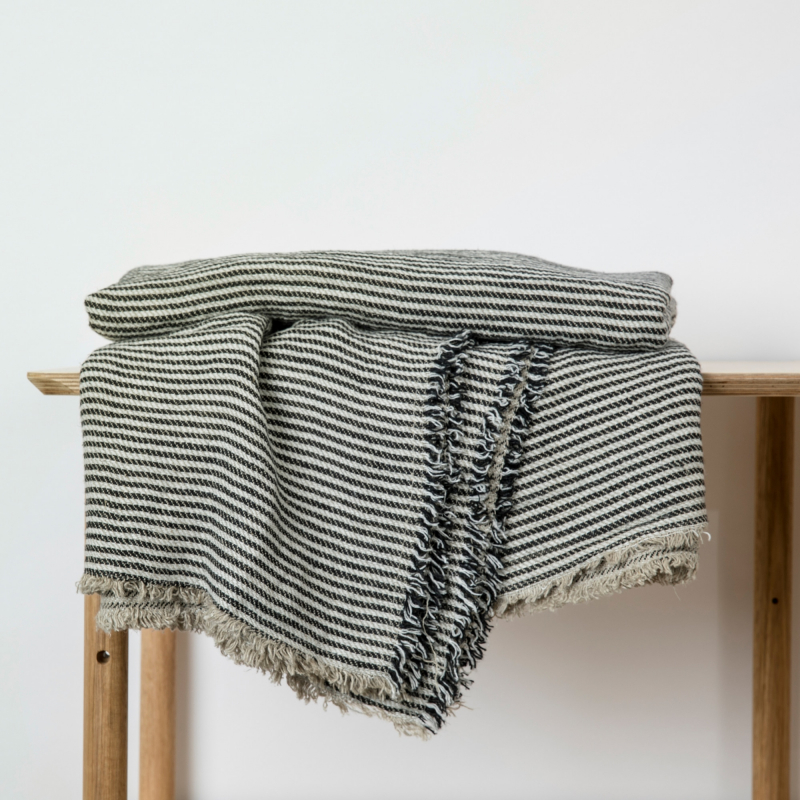 Ellis stripe linen throw from Monsoon Living Newcastle