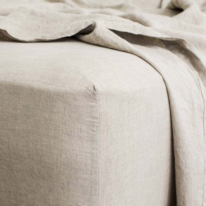 Natural fitted sheet detail from Monsoon Living Newcastle