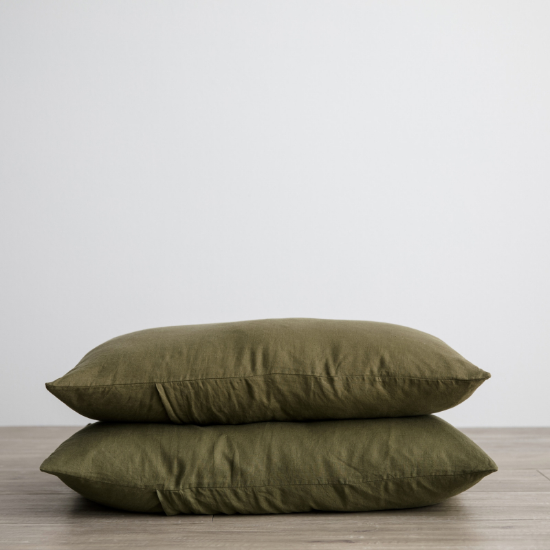 Olive pillowcase set from Monsoon Living Newcastle