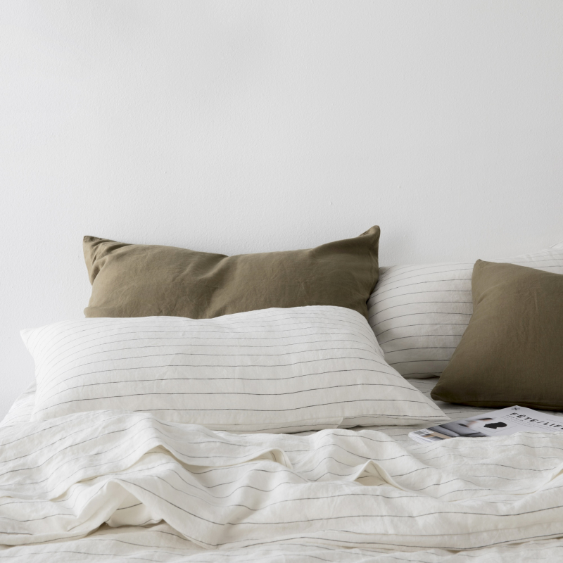 Pencil stripe and olive linen from Monsoon Living Newcastle