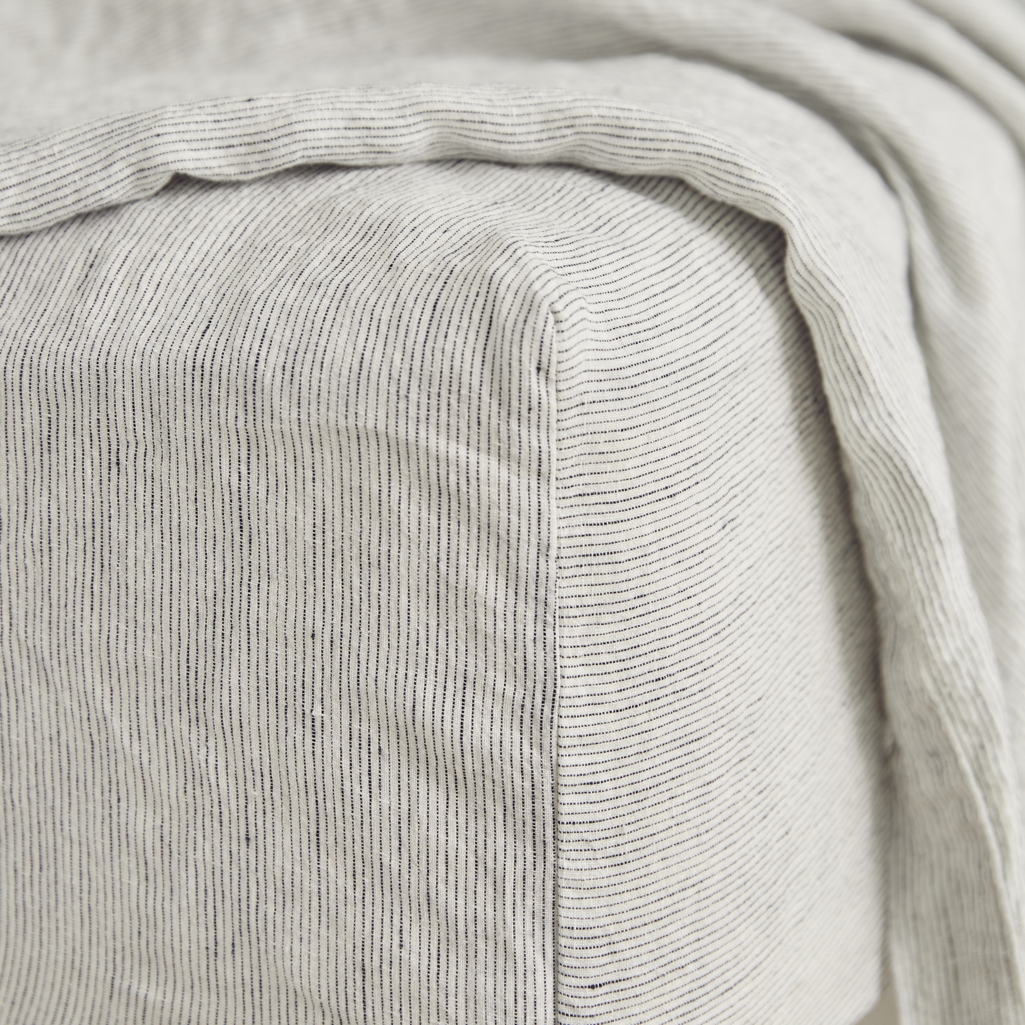 Pinstripe fitted sheet detail from Monsoon Living Newcastle