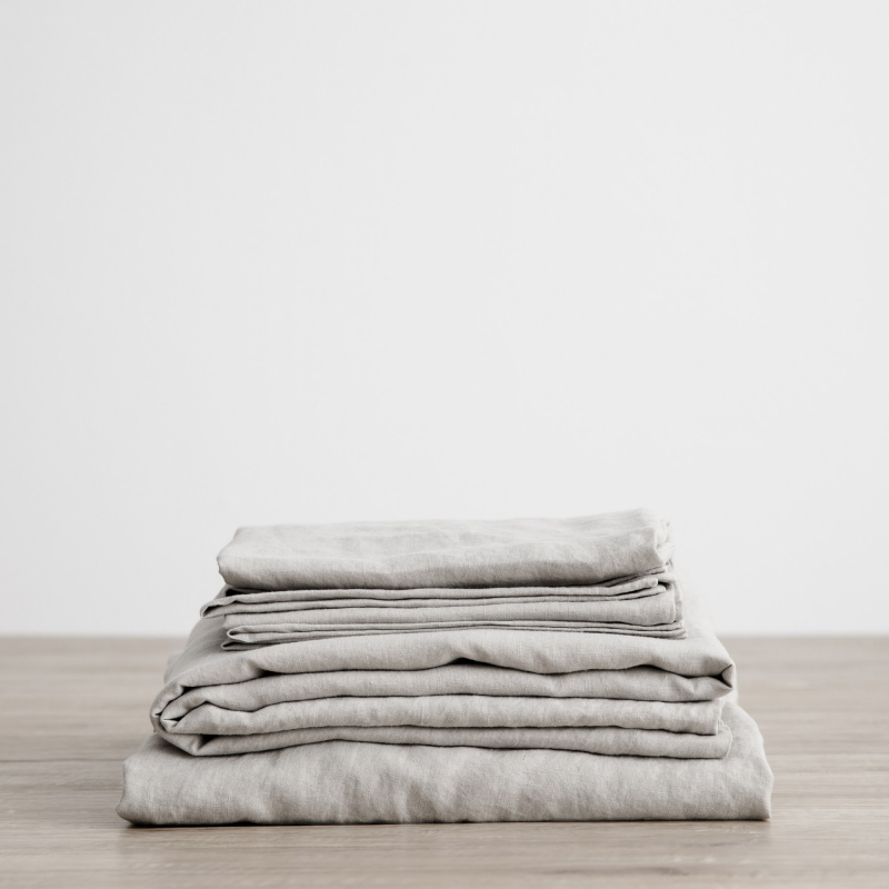 Smoke grey folded sheet set from Monsoon Living Newcastle