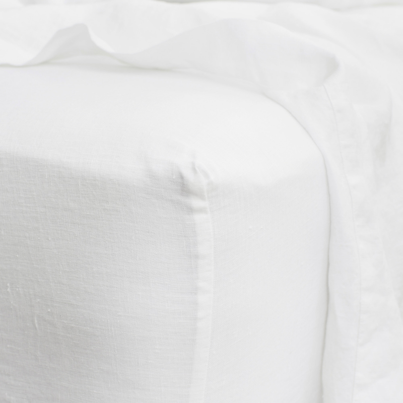 White fitted sheet detail from Monsoon Living Newcastle