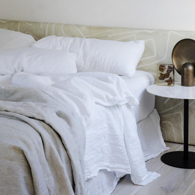 White unmade bedlinen from Monsoon Living Newcastle