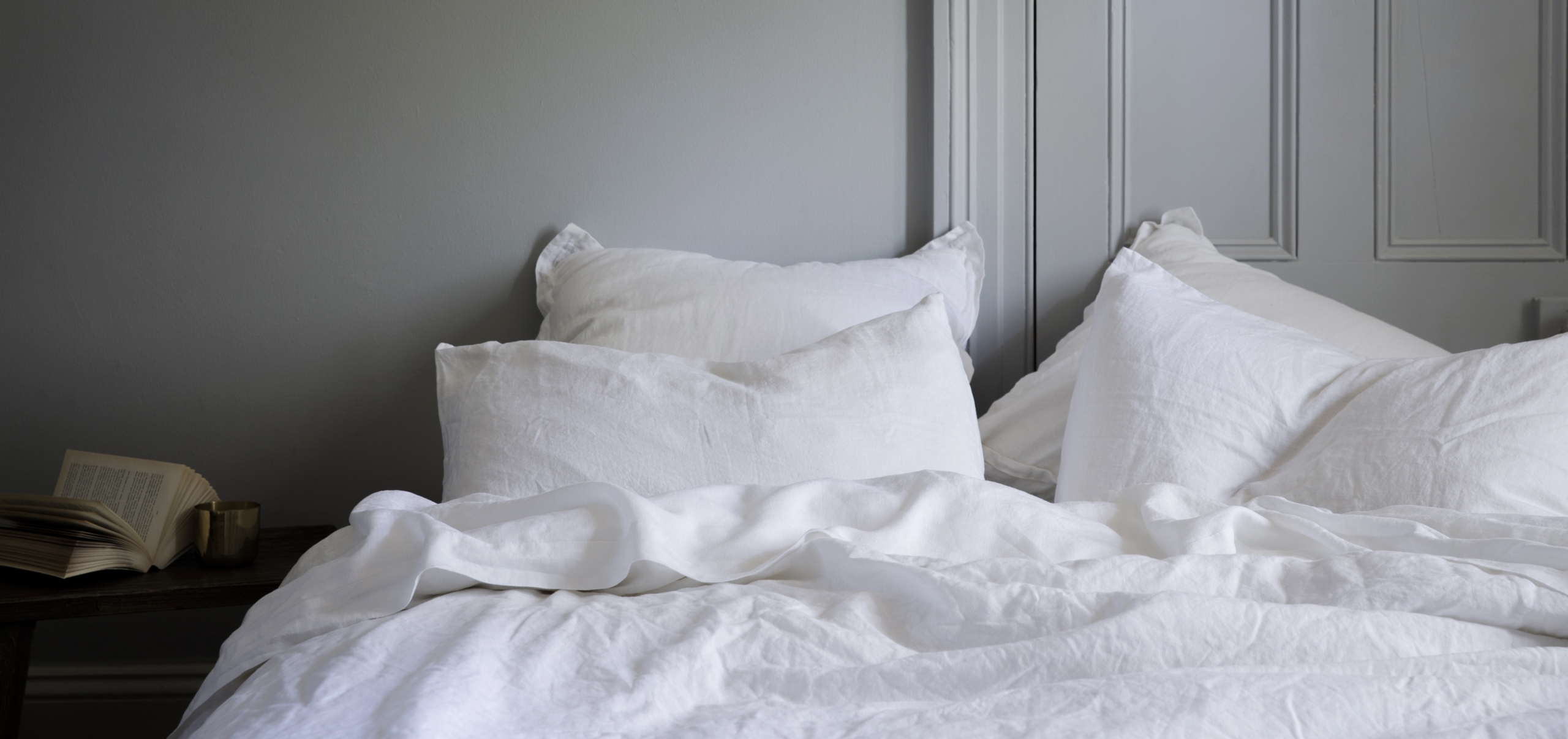 Cosy bed linen and duckegg blue walls from Monsoon Living Newcastle