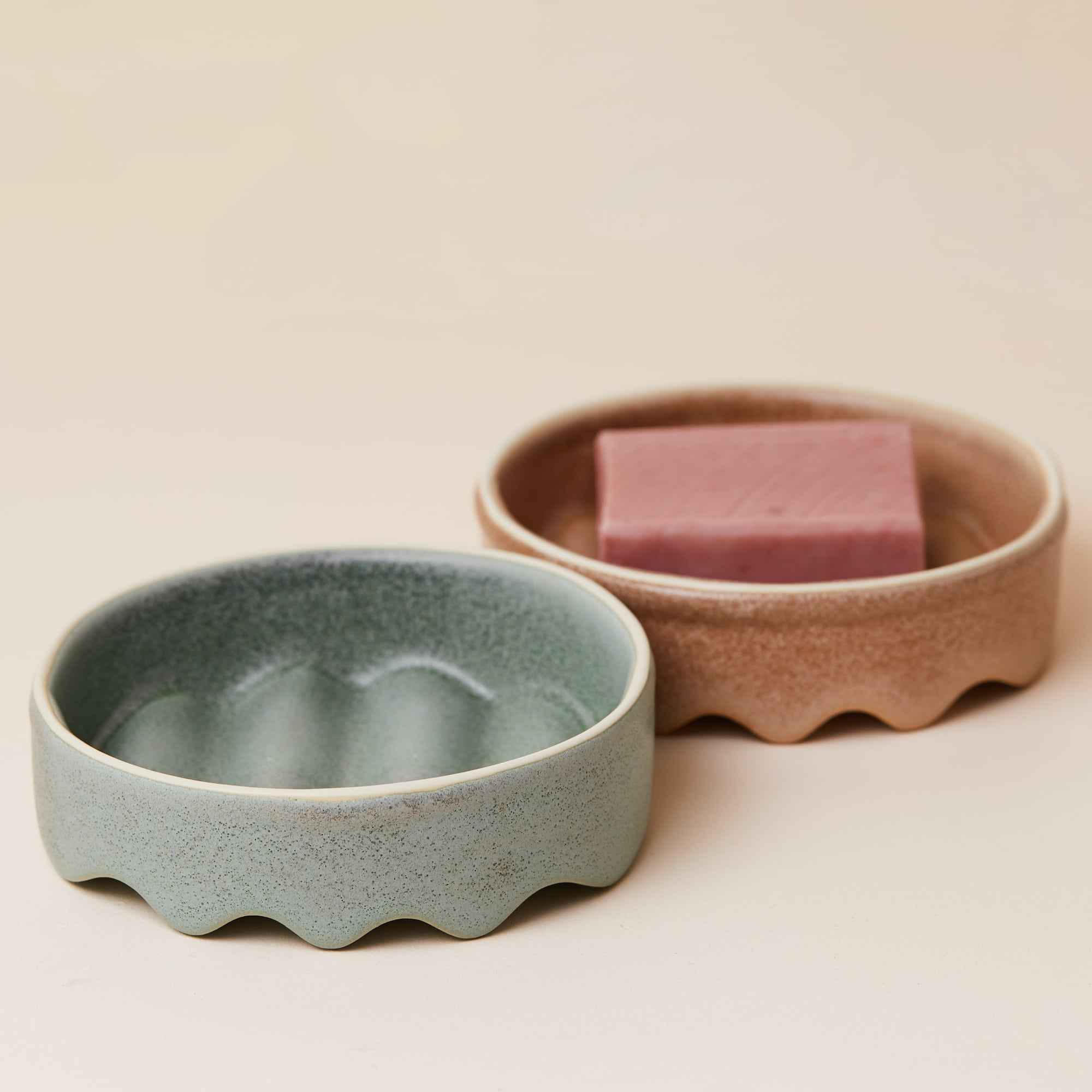 Handmade ceramic soap dishes from Monsoon Living Newcastle