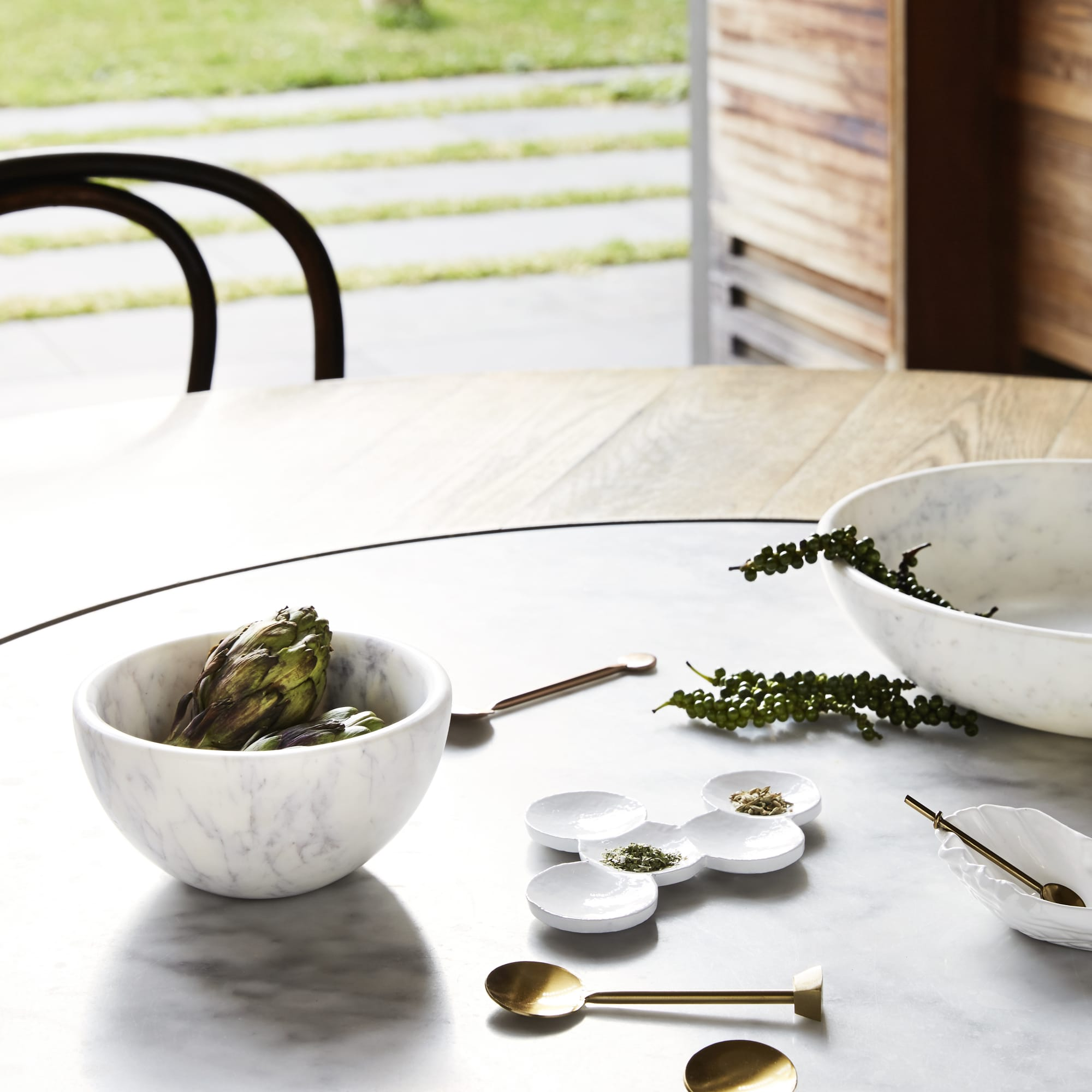 Marble Key Bowl on the table from Monsoon Living Newcastle