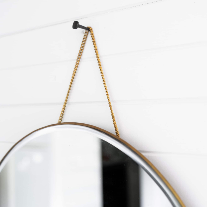 Brass chain detail on our porthole mirror from Monsoon Living Newcastle