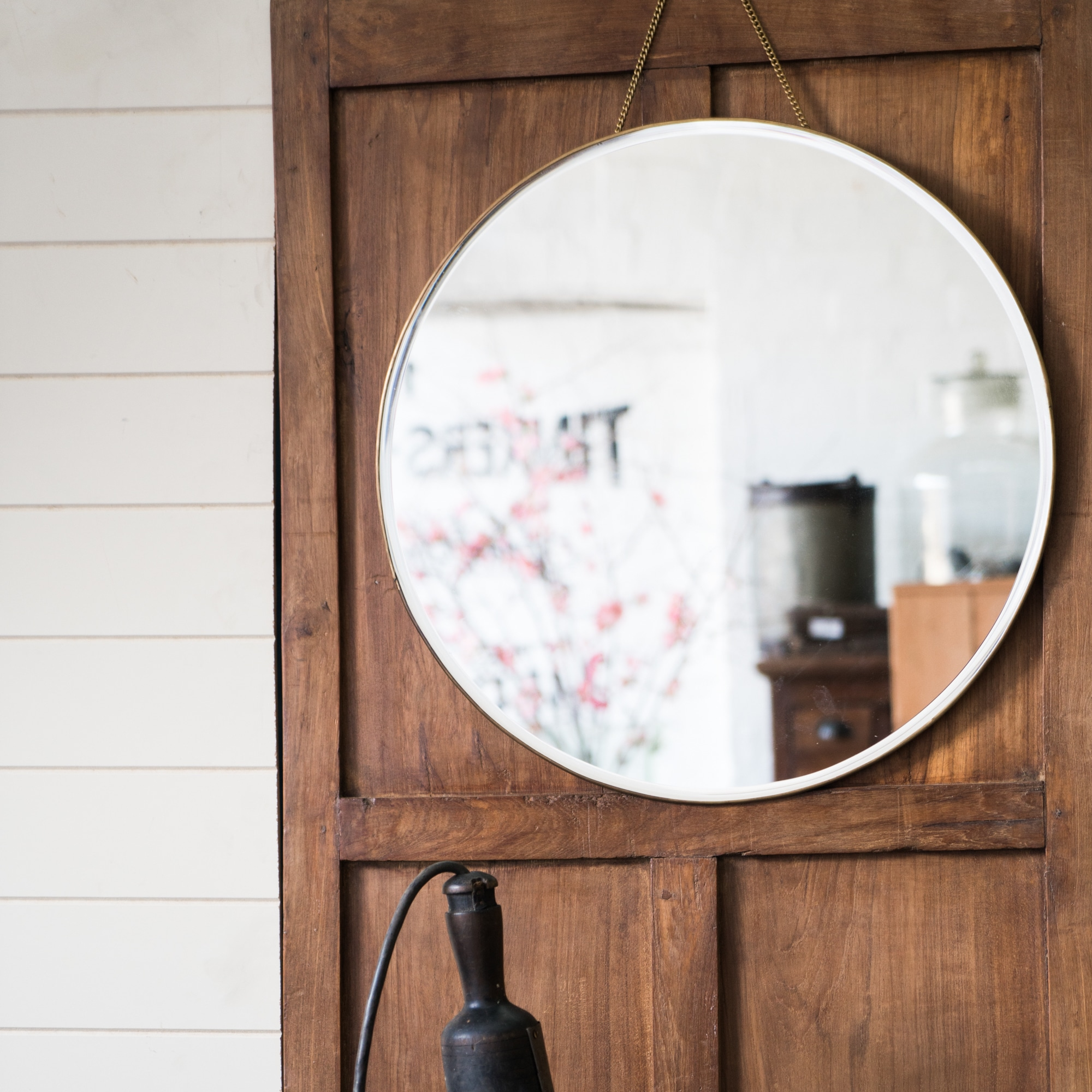 Brass porthole mirror from Monsoon Living Newcastle