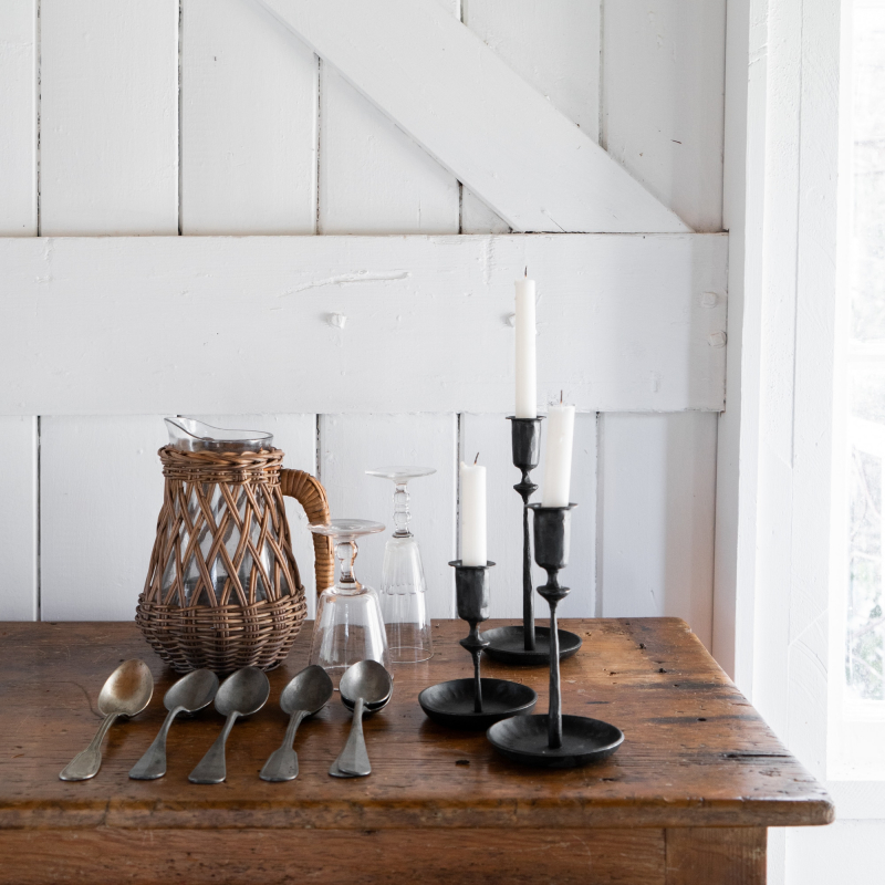 Trio of candlesticks on the table from Monsoon Living