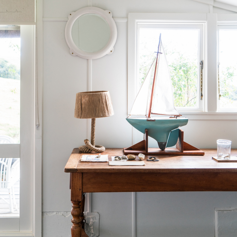 Rope lamp on the table from Monsoon Living Newcastle