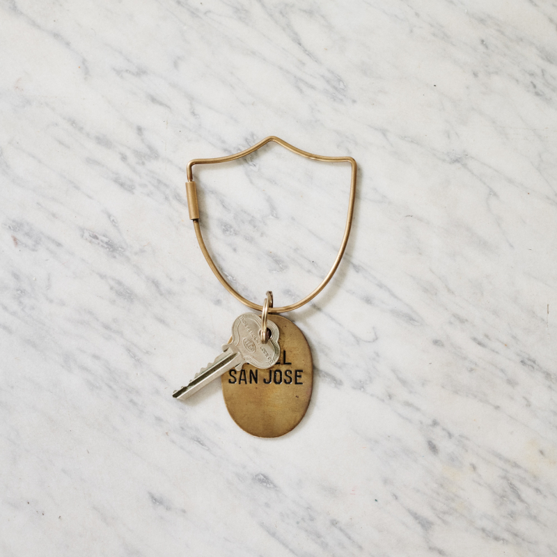 Brass shield key ring from Monsoon Living Newcastle