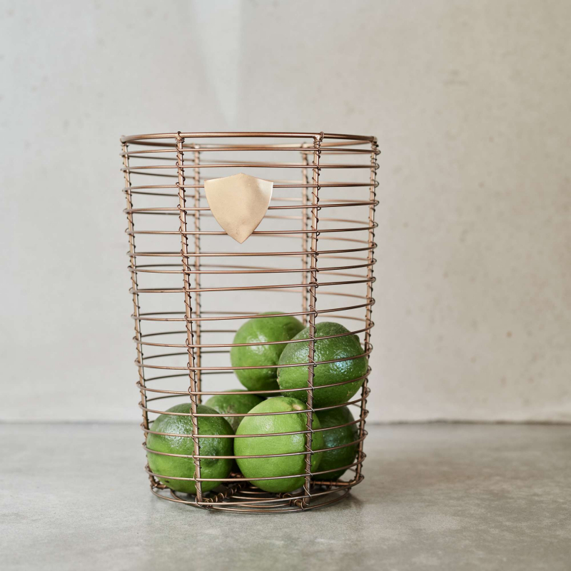 Brass wire basket with limes from Monsoon Living Newcastle