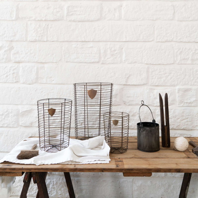 Brass wire baskets from Monsoon Living Newcastle