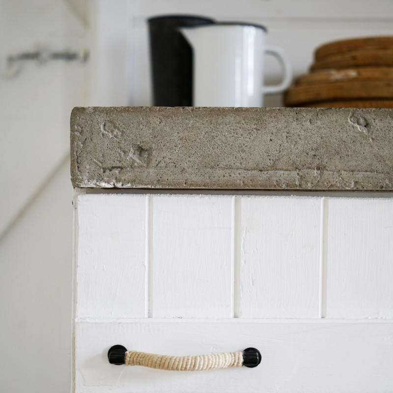 Rope and blackened steel drawer pull by Monsoon Living Newcastle