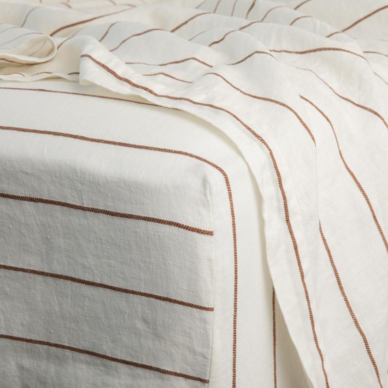 Cedar stripe fitted sheet from Monsoon Living Newcastle