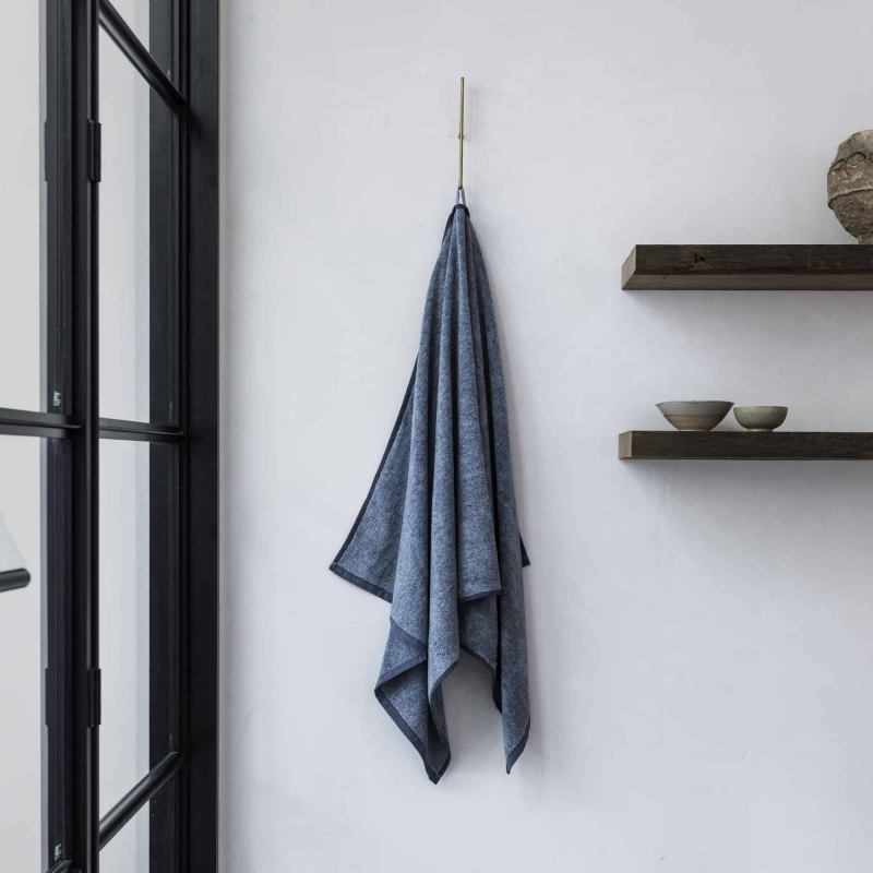 Denim towel hanging by Monsoon Living Newcastle