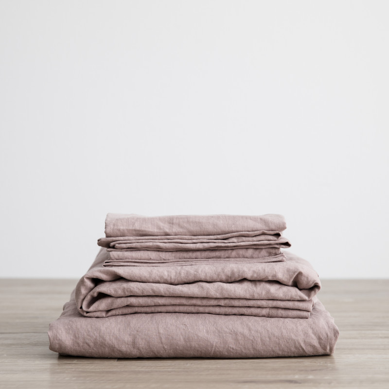 Dusk linen folded sheets from Monsoon Living Newcastle