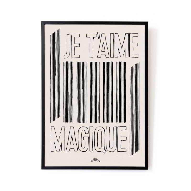 'Je T'aime' art print from Monsoon Living, Newcastle