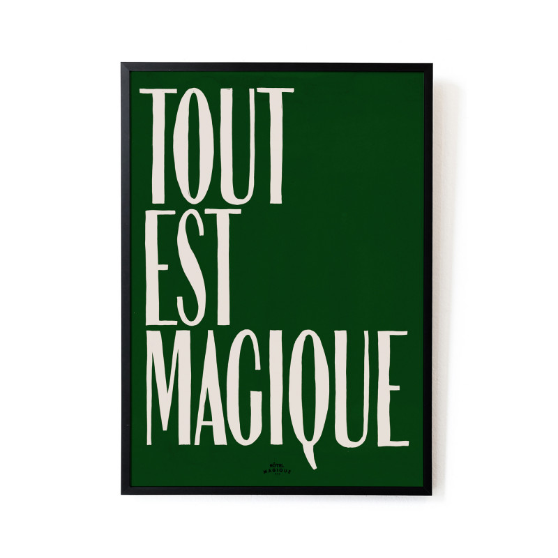 'Tout est Magique' art print from Monsoon Living, Newcastle