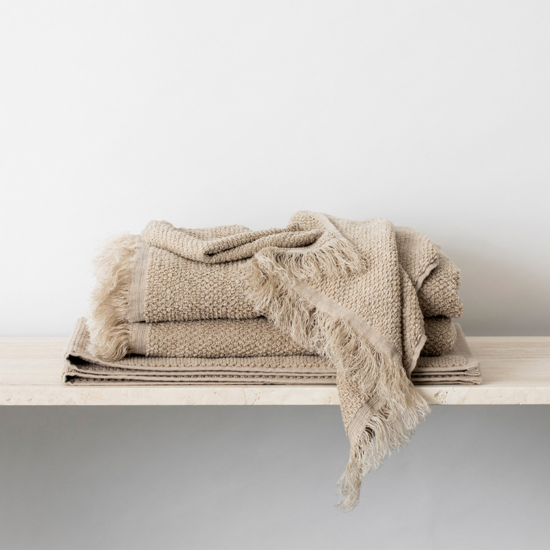 Natural linen towels from Monsoon Living Newcastle
