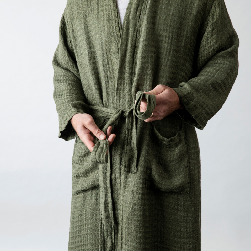 Forest Green Linen Robe from Monsoon Living Newcastle