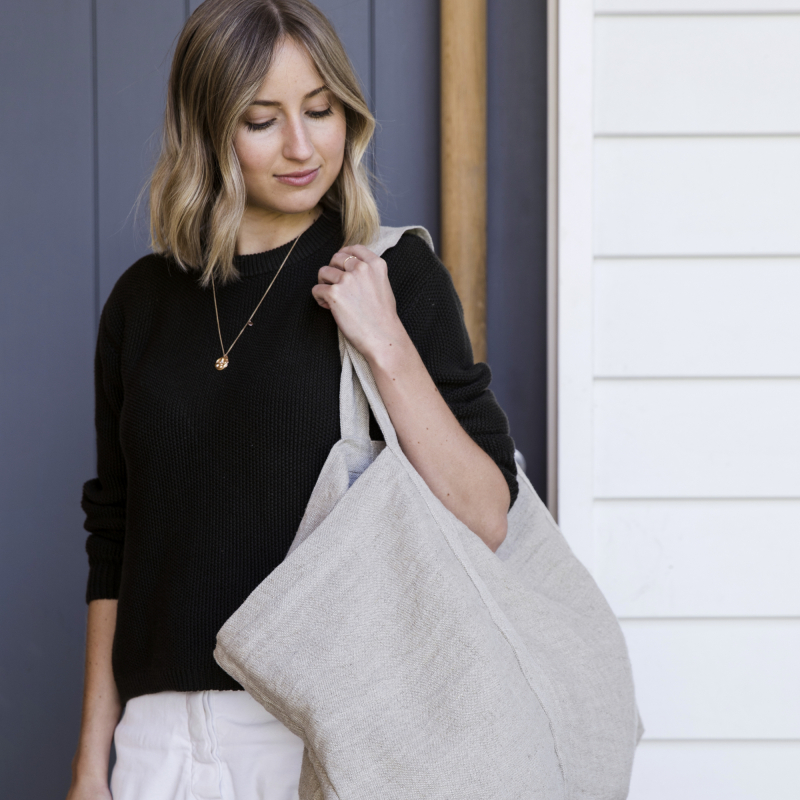 Heavyweight Linen Tote Bag from Monsoon Living
