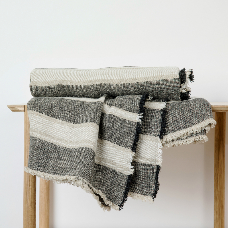 Mira Linen Throw from Monsoon Living Newcastle