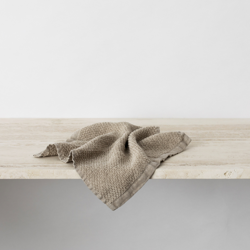 Natural linen wash cloth from Monsoon Living Newcastle