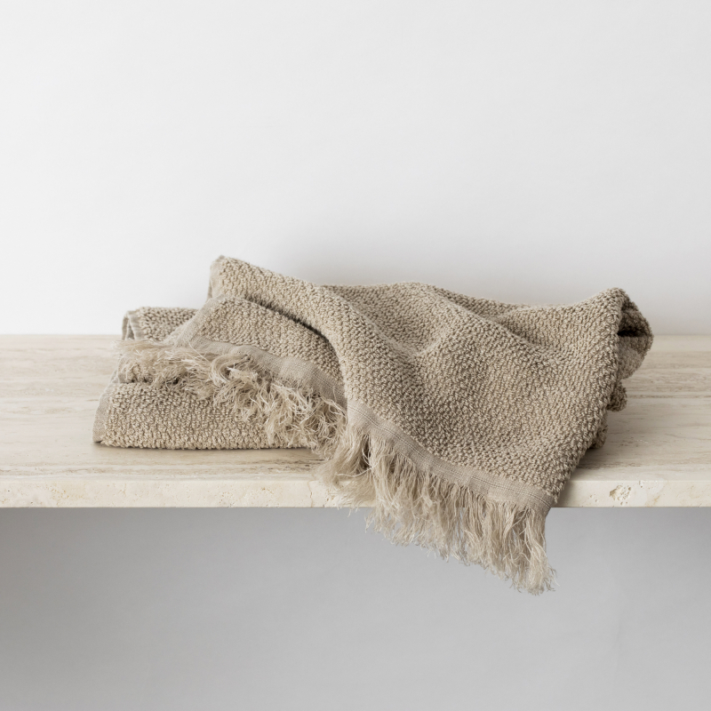 Natural linen bath towel from Monsoon Living Newcastle