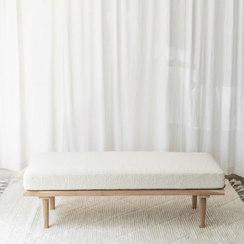 Boucle Bench Seat